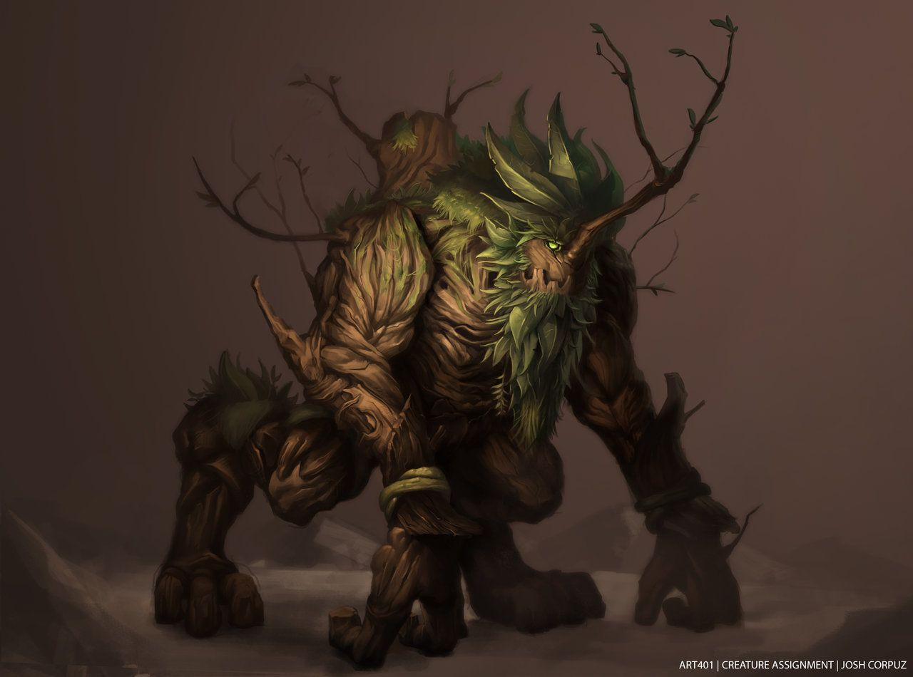 Wood Golem By Joshcorpuz85 On Deviantart Drawings Creatures