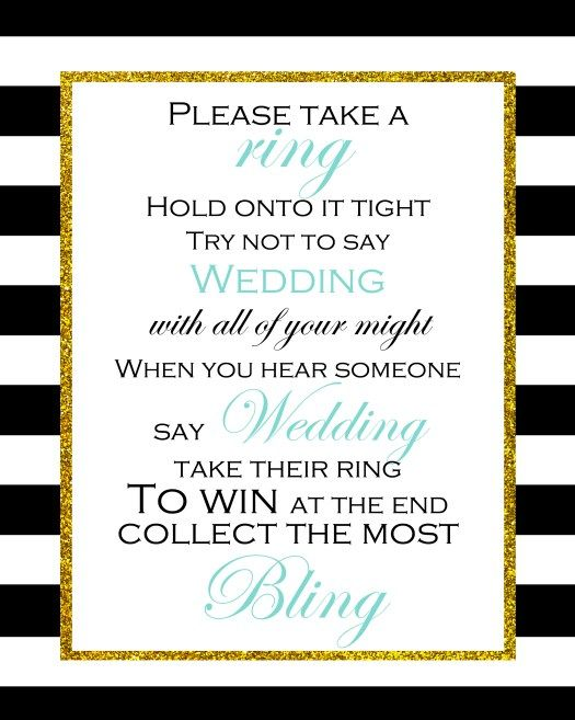 free printable dont say wedding game more free bridal shower