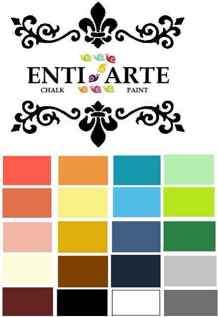 Carta De Colores De Pintura Con Acabado Tiza Ideal Para Pintar Madera Vidrio Plástico Y Lata U Carta De Colores Pintura Carta De Colores Colores De Pintura