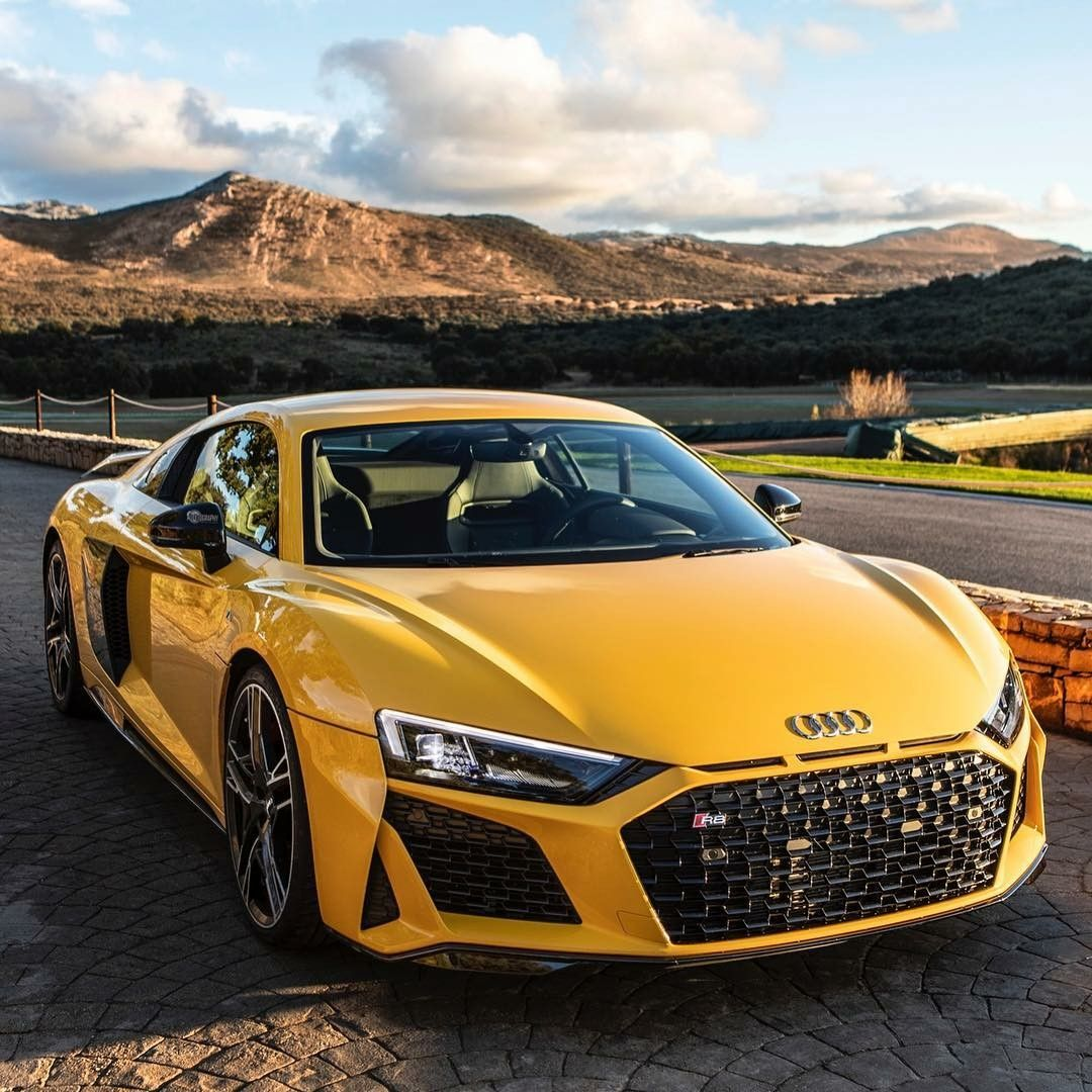 Yellow Audi Car audi supercar racingcar Audi cars