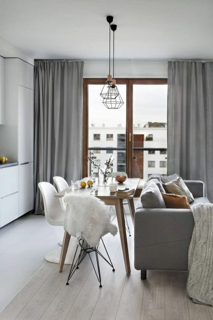 ▷ 1001 + ideas sobre decoración salón gris y blanco | Interior ...
