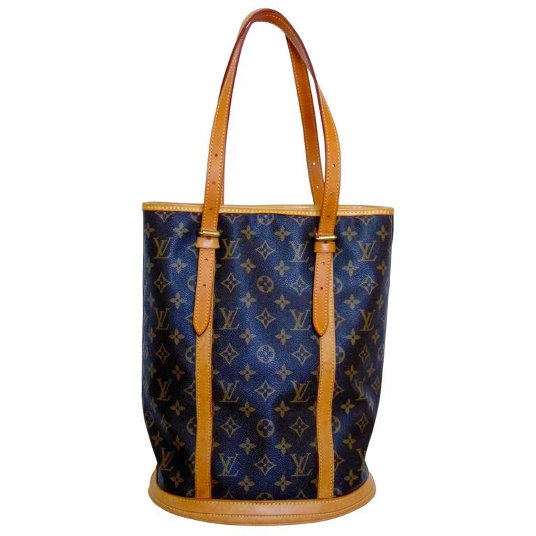 e372f71c3b8f Classic Louis Vuitton Monogram Bucket Bag GM Large Tote Vintage 2005