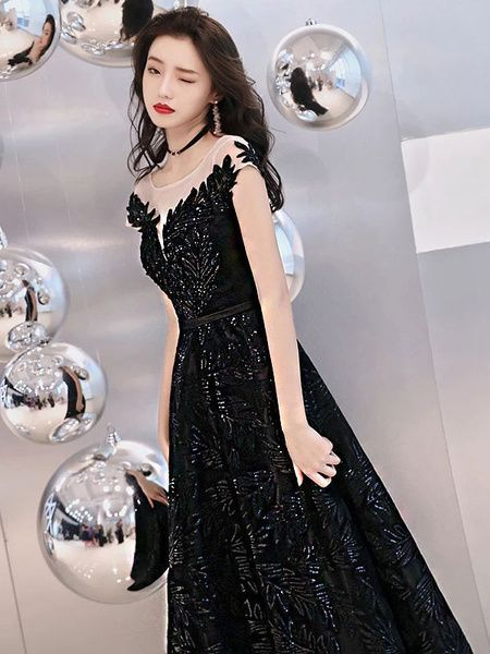 Photo of Black Evening Dresses Long Prom Sequins Prom Dress …