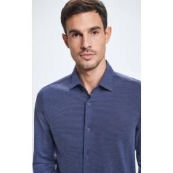Photo of Carson shirt, dark blue patterned StrellsonStrellson
