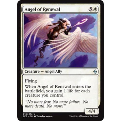 MTG ANGEL OF RENEWAL X 4 N//M BATTLE FOR ZENDIKAR