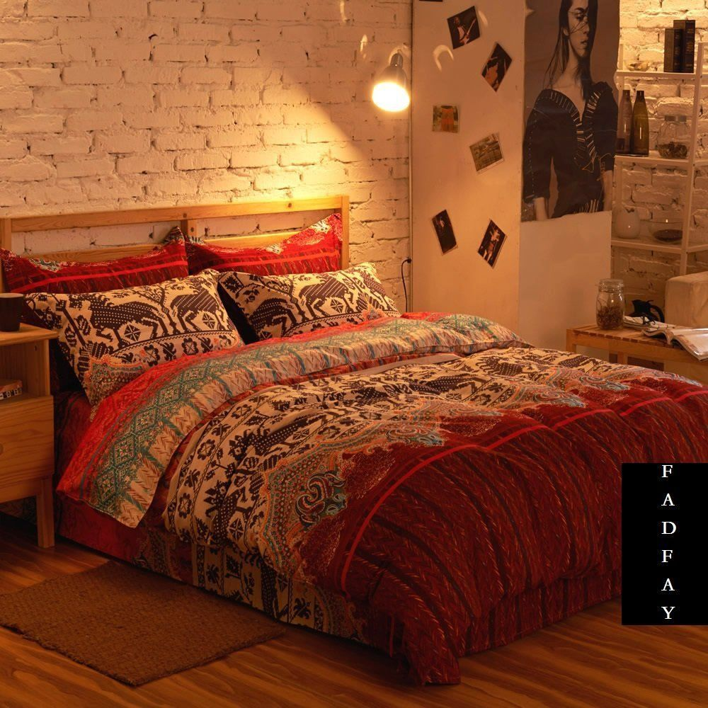 exciting bedroom style bohemian bedding | Modern Boho Bedding Set, Branded 100% Cotton Home Choice ...