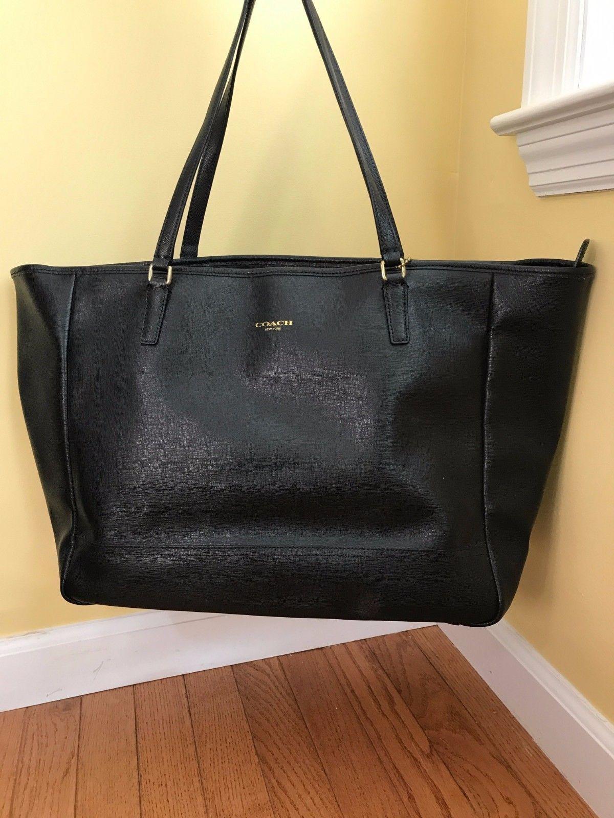 Coach medium to large black tote bag purse  6f5308bf43e06