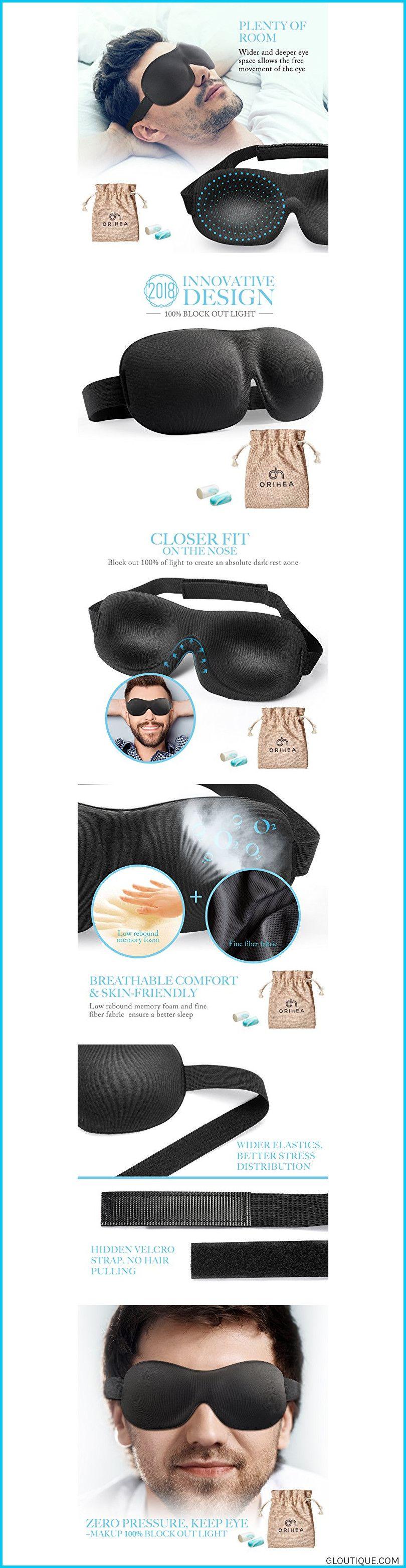 Orihea Eye Mask For Sleeping Sleep Mask For Men And Women Patented Design 100 Blackout Sleep Mask Comfortable Eye Mask Blindfold Black Reviews Comfortable Eye Mask Sleep Mask Blindfold