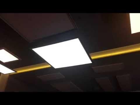 Plafoniera Led Cu Telecomanda : Plafoniera led 600x600 3 functii cu telecomanda iluminat modern si