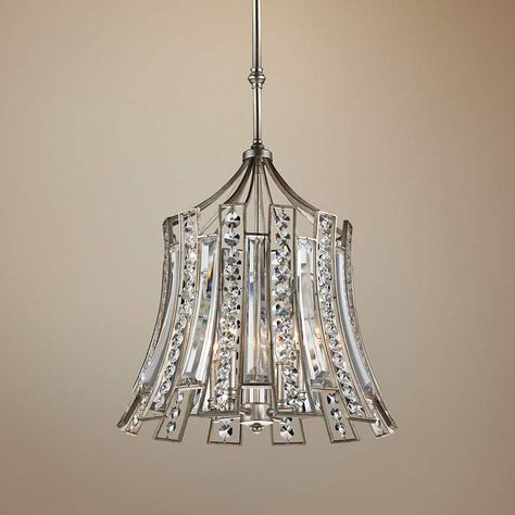 This Transitional Silver Leaf And Sparkling Crystal Four Light Pendant Was  Inspired By Oceanside Cabanas Along Miami Beach. 21 High X 20 Wide X Canopy  Is ...