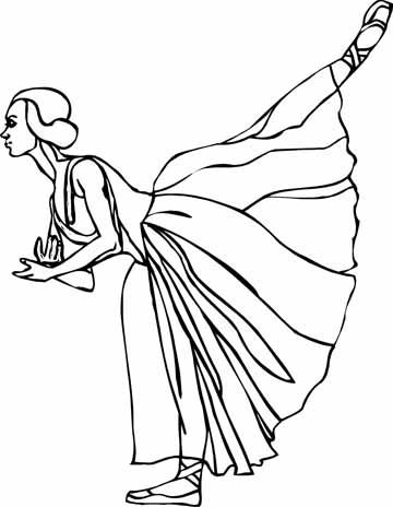 ballet coloring sheets 2jpg 360464 - Ballet Coloring Pages 2