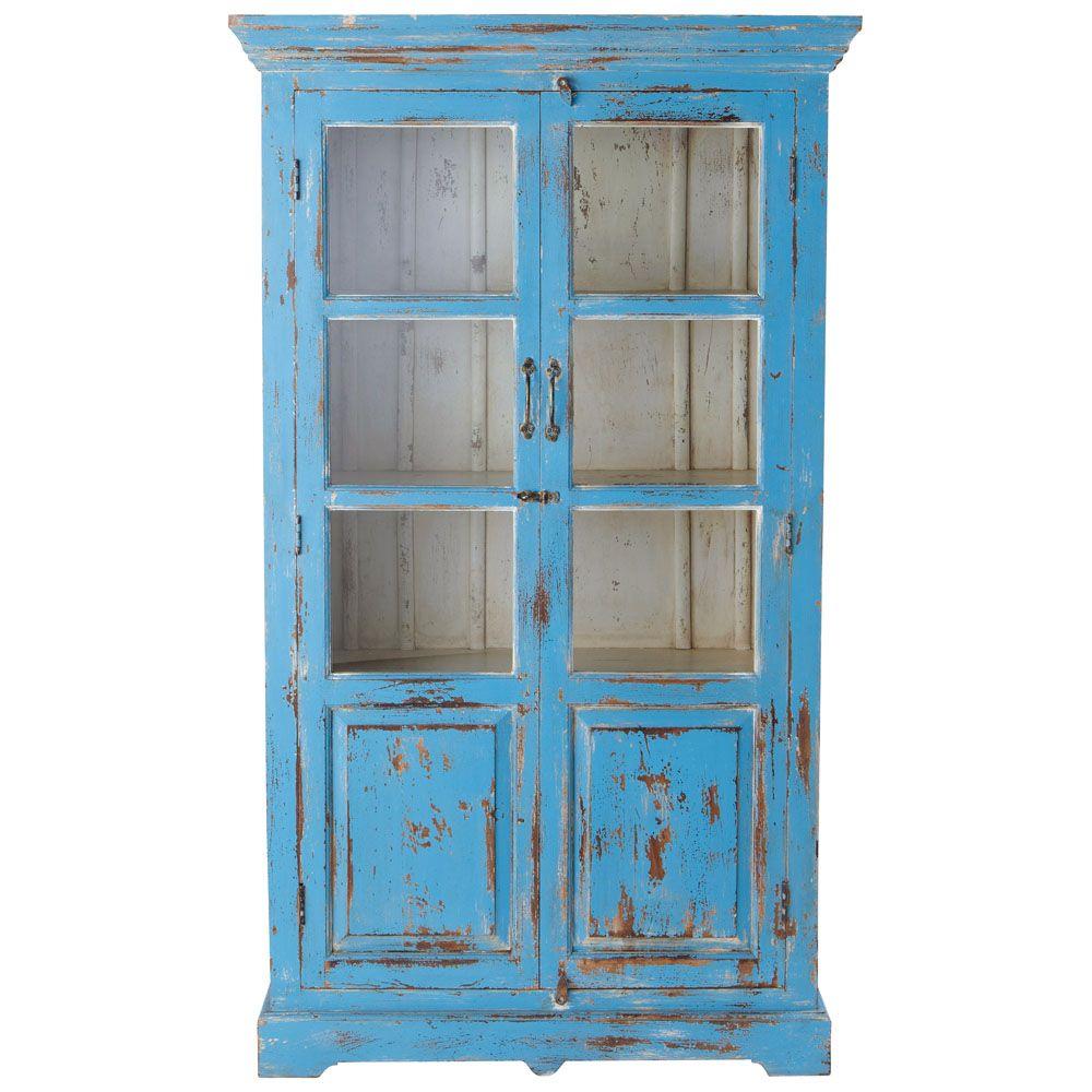 vitrine aus mangoholz b 105 cm t rkis antik avignon shabby m bel pinterest m bel. Black Bedroom Furniture Sets. Home Design Ideas