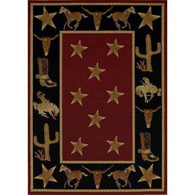 Loon Peak Durango Cowboy Up Midnight Black Brown Area Rug Rug Size 5 X 8 Western Rugs Western Area Rugs Rugs