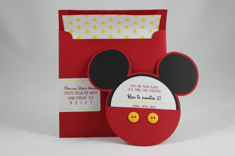 Mickey Mouse Invitation 500 Via Etsy