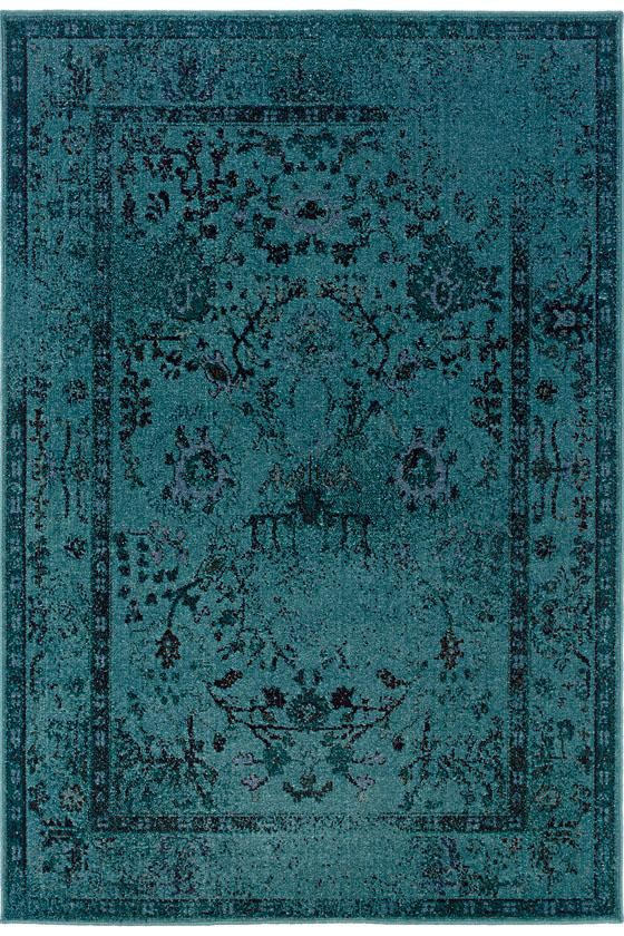 Home Decorator S Euphoria Area Rug 6 7 X9 6 Blue 299 Via Copy Cat Chic Teal Area Rug Teal Rug Traditional Rugs