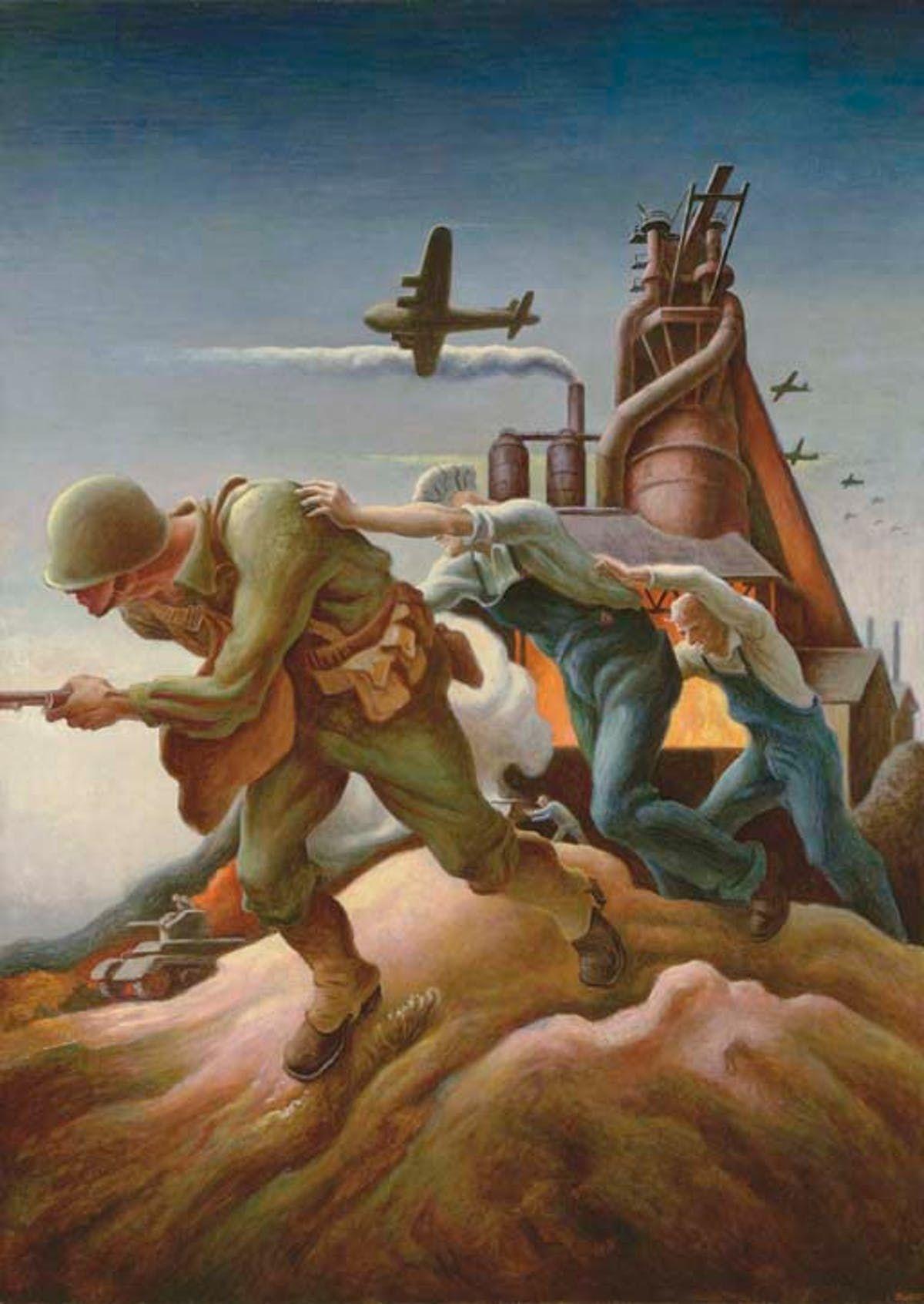 Thomas Hart Benton American Oil Painting Back Him Up Pre 1946 508 500 2005 Malerei Kunst Magischer Realismus
