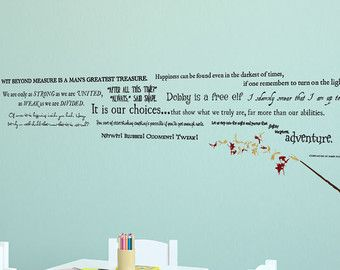 Harry Potter Quote Collection With Wand And Sparks Wall Decal - Wall decals harry potter