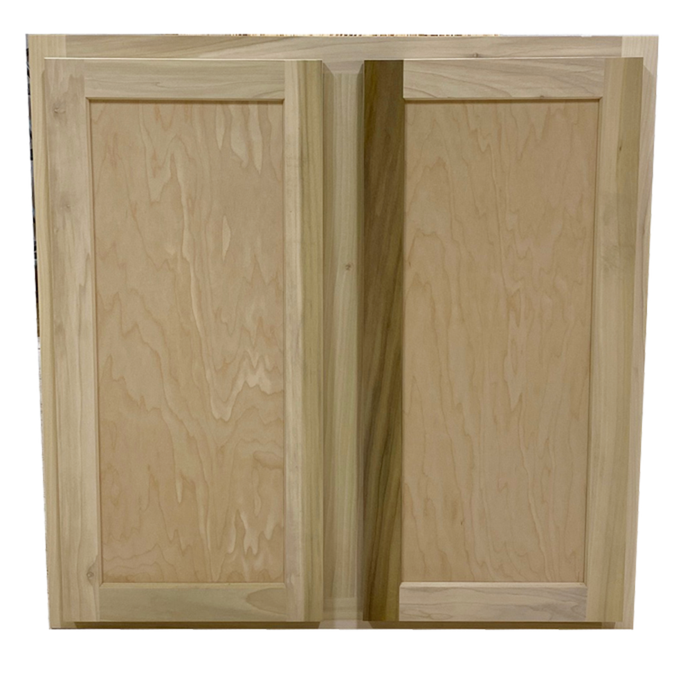 Kitchen Wall Cabinet Unfinished Poplar Shaker Style 27x30x12 In In 2020 Kitchen Wall Cabinets Wall Cabinet Shaker Style