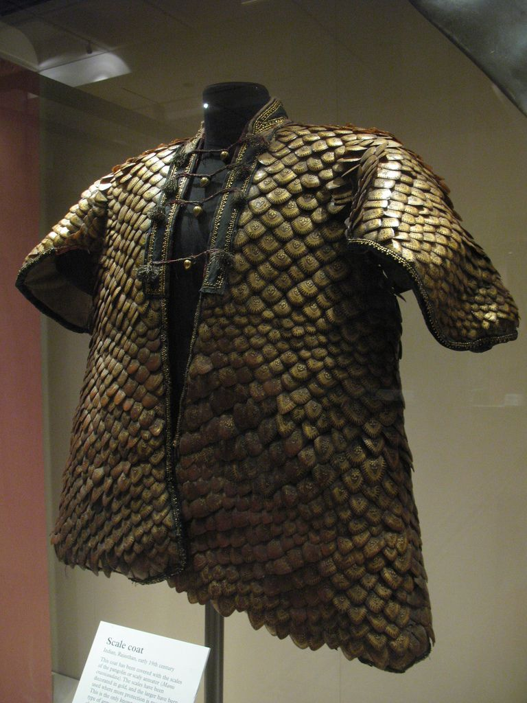 Anteater-skin Scale Mail Armor. Scale Coat Indian