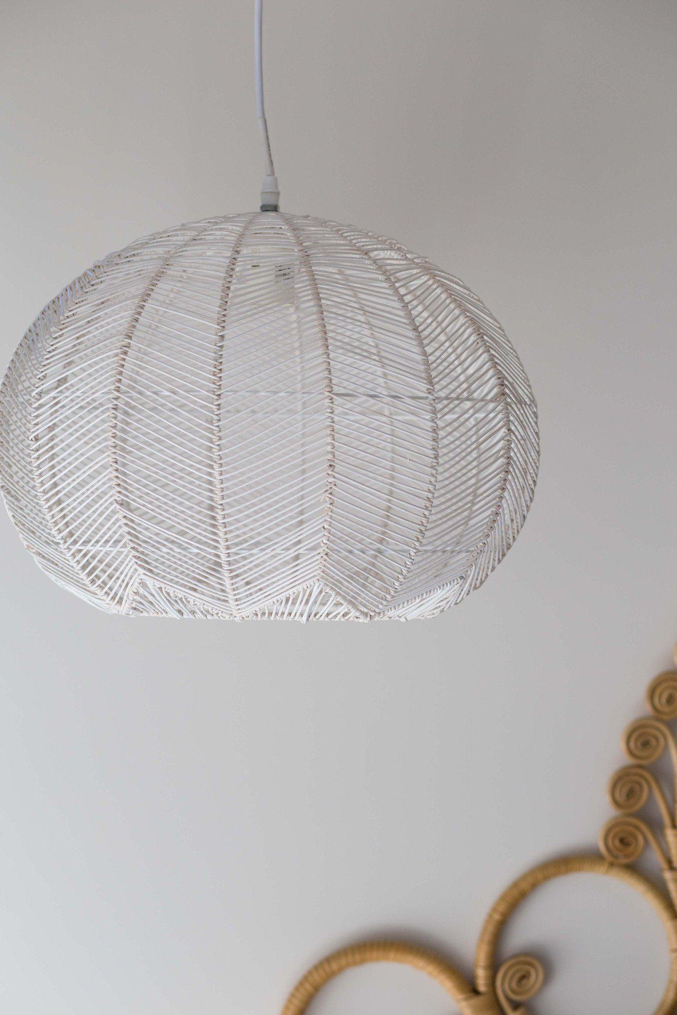White round rattan pendant - pre order | entrance | Pinterest ...