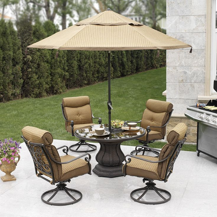 Garden Oasis Providence 5 Piece Swivel Dining Set: October 2018 Resources