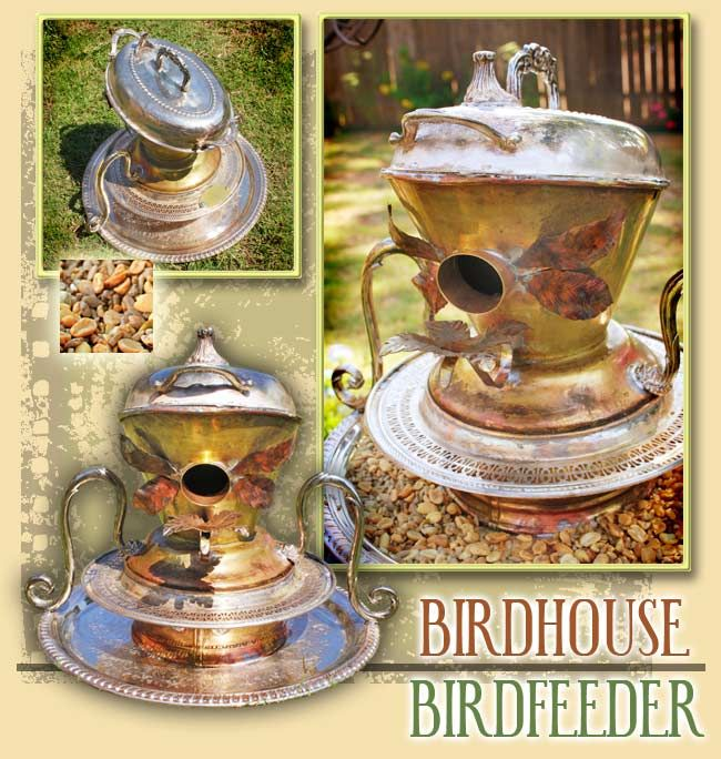 Lovin these bird houses made of re-cycled pots
