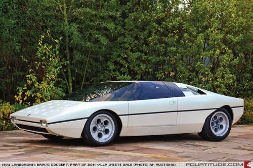 "kirk-kapitany: ""vintageclassiccars: ""1974 Lamborghini Bravo concept, design Bertone. "" @couleurlocale """