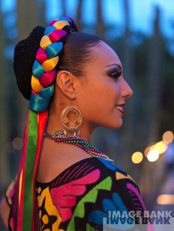 Colorful Mexican Rich Of Culture Braids Elegant Fun Happy Mexico