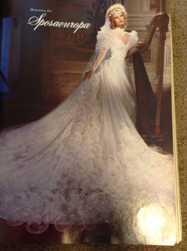 Feb March 1987 Brides Magazine 1980s Wedding Dress With Veil Gorgeous