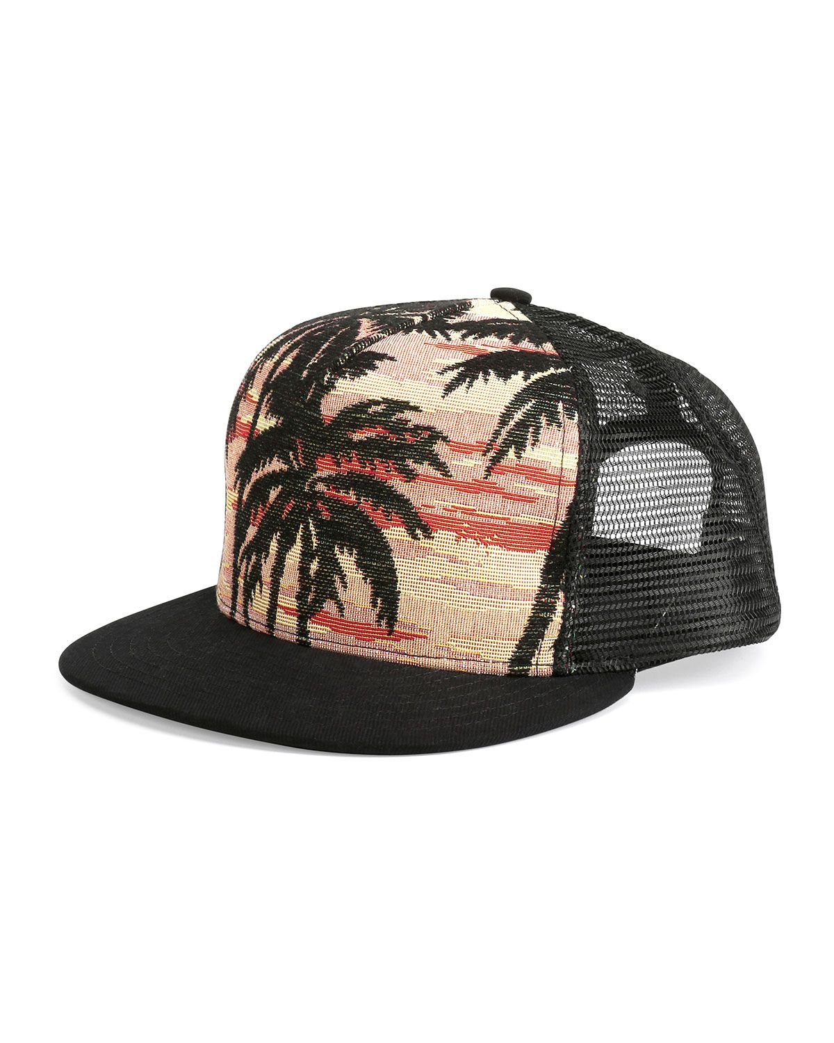 Yves Saint Laurent Palm Tree Printed Flat-Bill Hat cee2cb9fc55