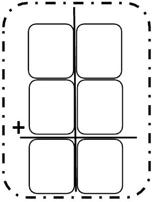 Here's a large double-digit addition frame for students to
