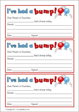 Ned Versie Bump Notes Sb5169 Sparklebox Childminding