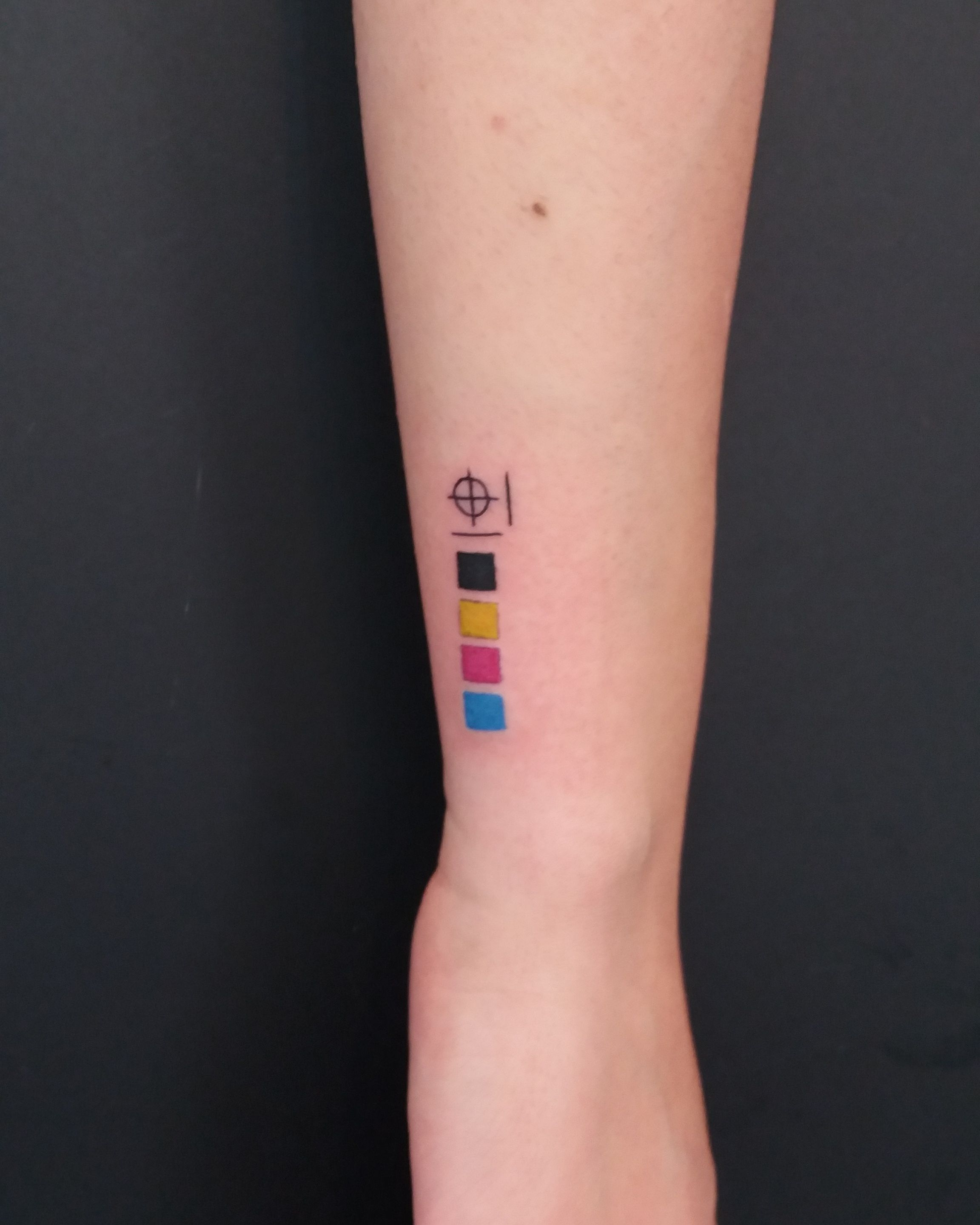 Cmyk Tattoo Color Small Tattoos Trendy Tattoos Graphic Design Tattoos