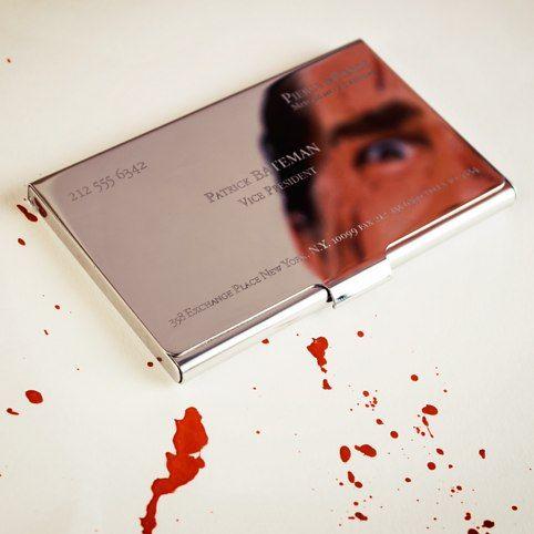 Patrick Bateman Business Card Holder From Firebox Com Luxury Business Cards Business Card Case Business Cards