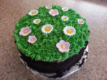Flower Garden Cake Garden Cakes Garden Birthday Cake Garden Theme Cake