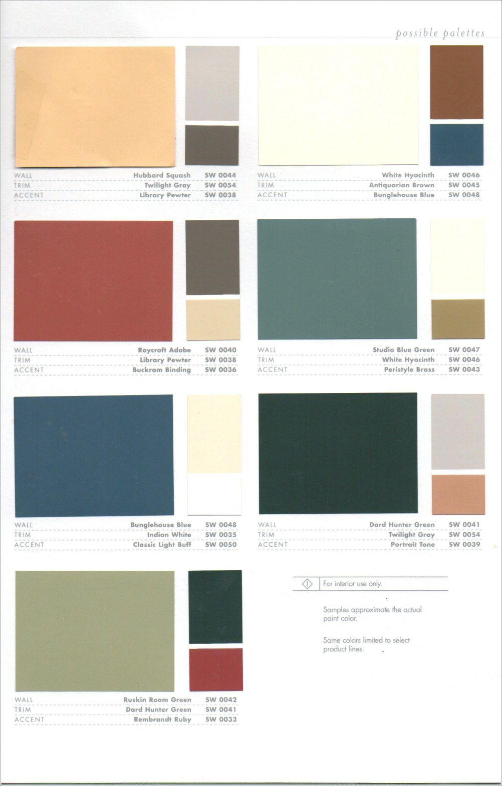 Interior Color Combos Sherwin Williams Arts And Crafts