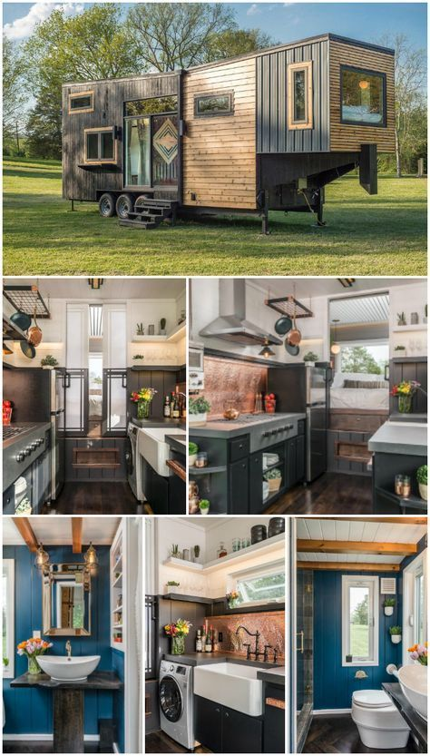 Escher Escher Gertrude Sarmiento KUNSTundSUPPE TRÄUME Luxury Tiny Home! A completely custom tiny house built on a gooseneck trailer with two […] #Escher #Tiny Homes On Wheels gooseneck