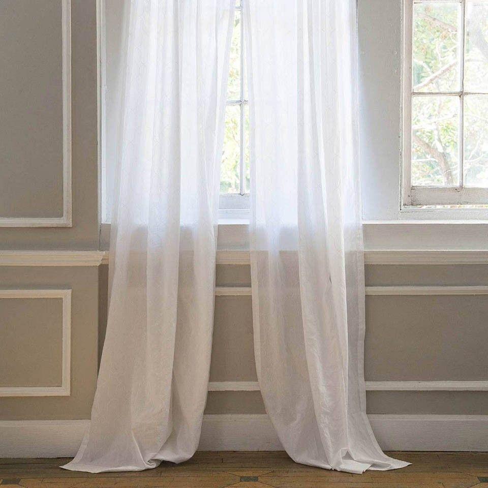 Window Sheer Snap White 42x108 White Wainscoting Window Sheers