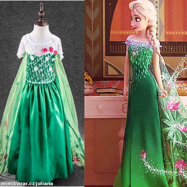 dc084fc8639d Šaty kostým Frozen ELSA a ANNA Ledové království