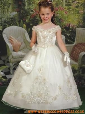 Off the SHoulder Cute Princess Flower girl dress | pretty flower ...