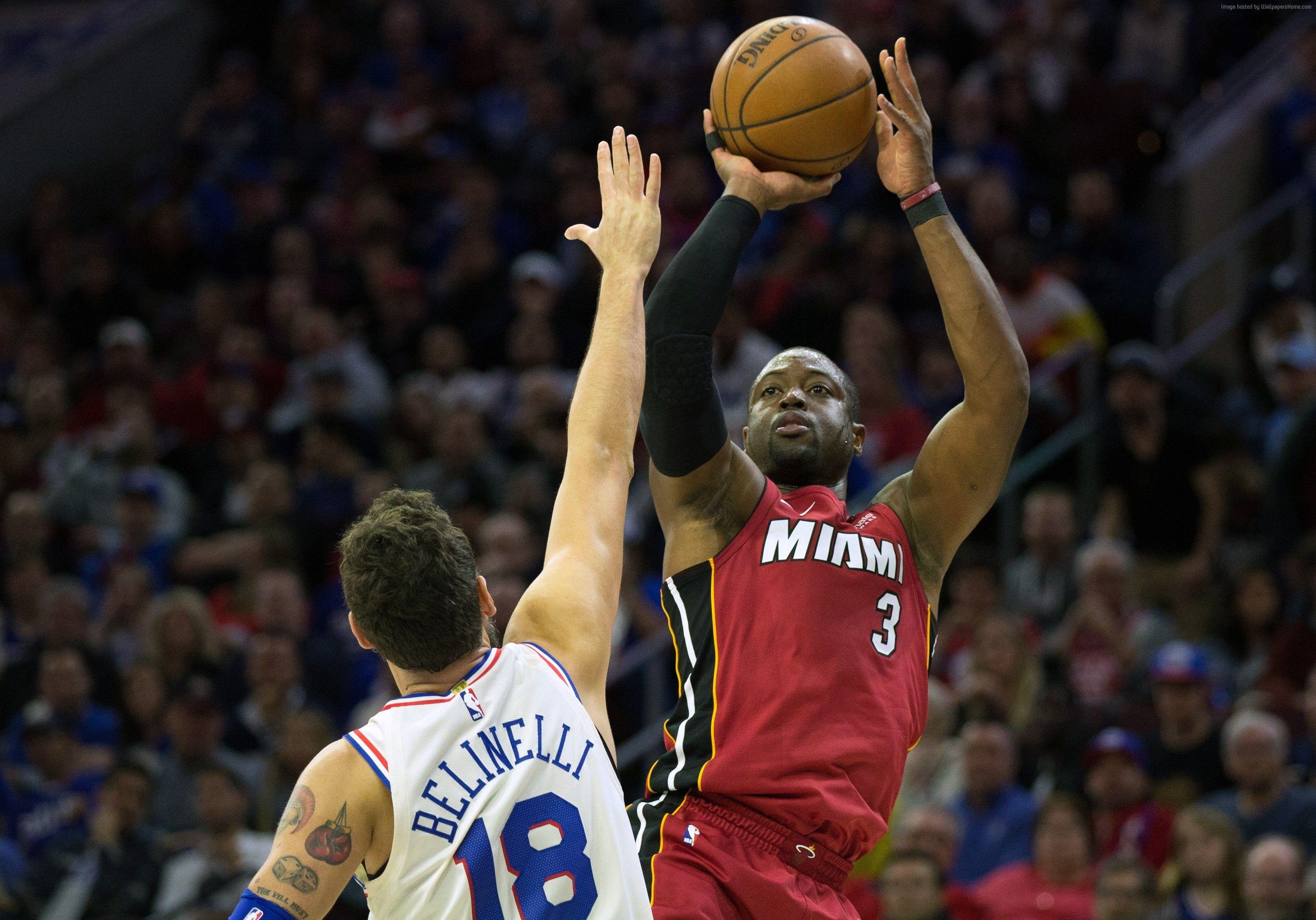 Dwyane Wade 4K basketball NBA Miami Heat 2K wallpaper