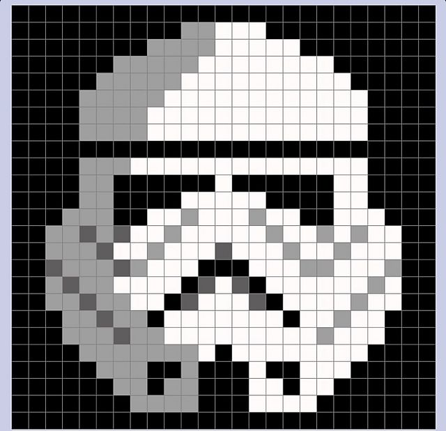ravelry tina2013 39 s star wars stormtrooper pixel blanket perler beads pinterest. Black Bedroom Furniture Sets. Home Design Ideas
