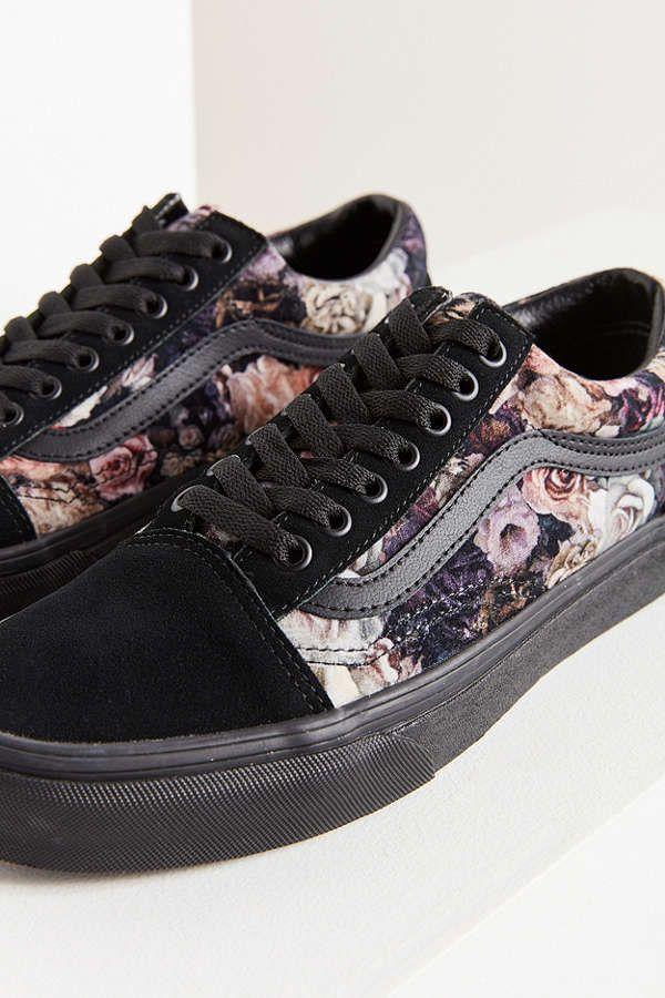 Vans Floral Velvet Old Skool Sneaker | Shoes, Urban fashion