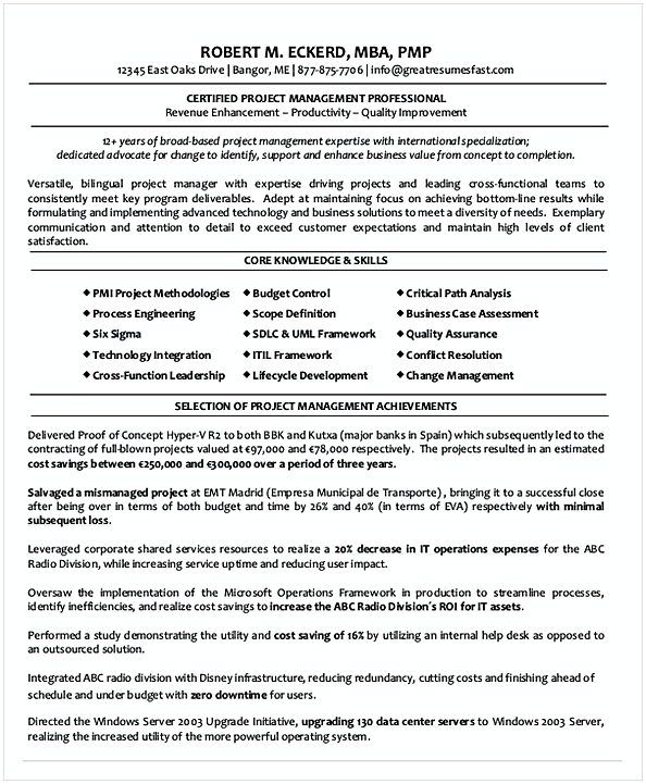 Certified entry level project Management Resume , Entry Level ...