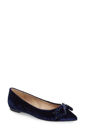 Sam Edelman Raisa Bow Flat. At first glance girly, but the studs on the bow add unexpected edge.