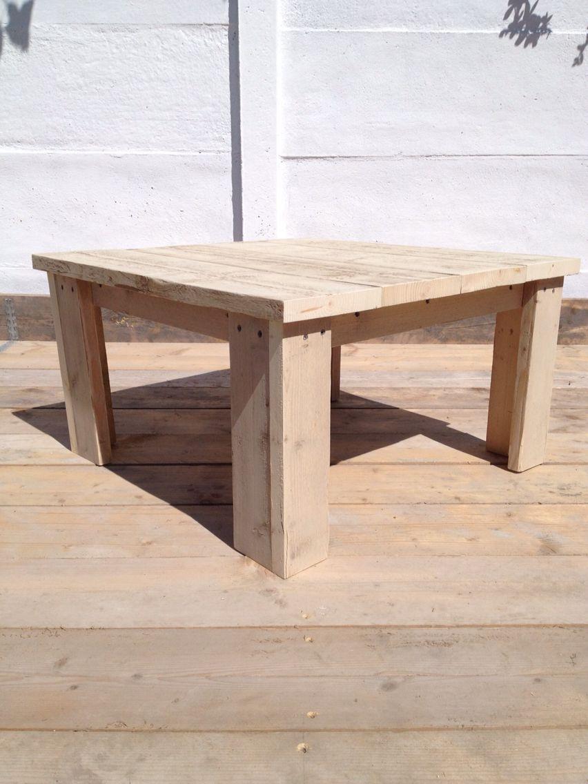 Steigerhout bijzettafel voor binnen of buiten stilwood for Bijzettafel steigerhout