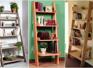 40 Impressive Bookshelf Styles Made From Repurposed Ladders