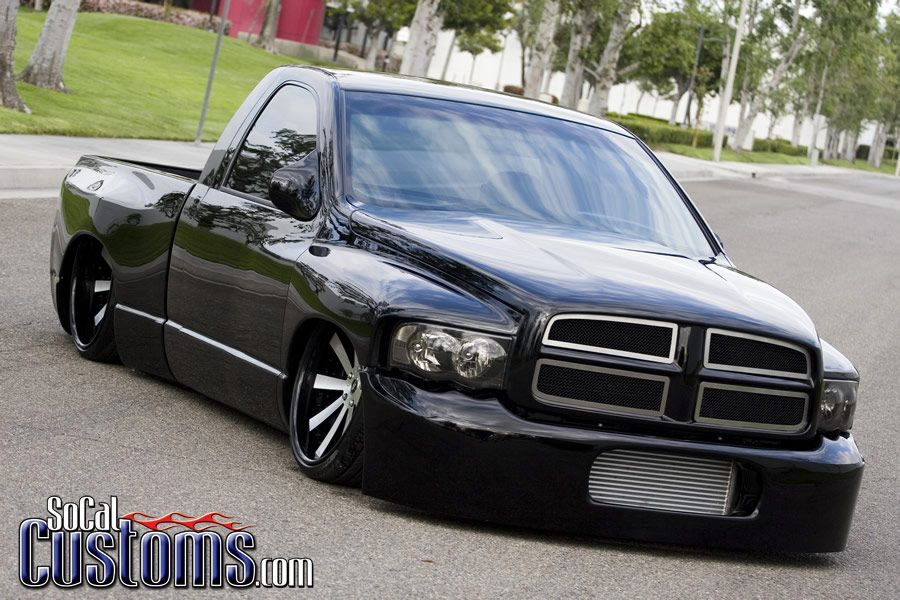 Custom 2003 Dodge Ram 1500 Black Lowered Stance With Images