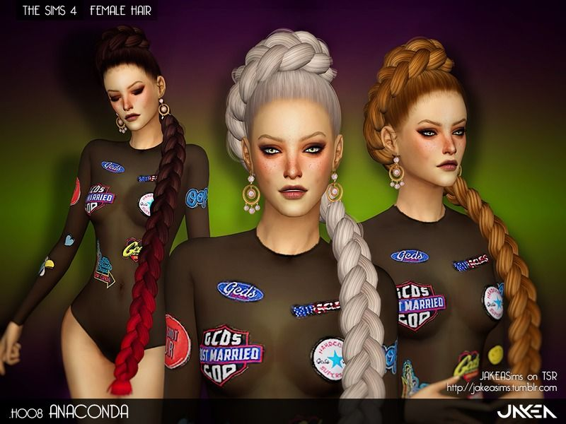 Super Long Braid Hairstyles For Female Found In Tsr Category 39 Sims 4 Female Hairstyles 39 Womens Hairstyles Sims 4 Sims Hair
