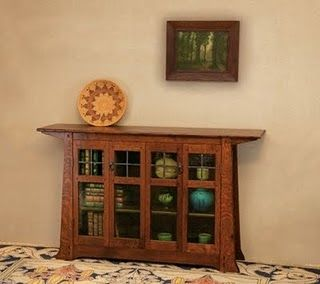 arts and crafts–style display cabinet. | For the Home | Pinterest ...